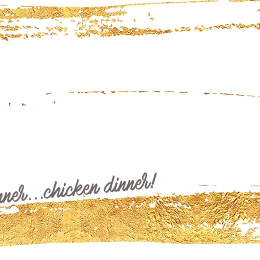 Gold foil graphic