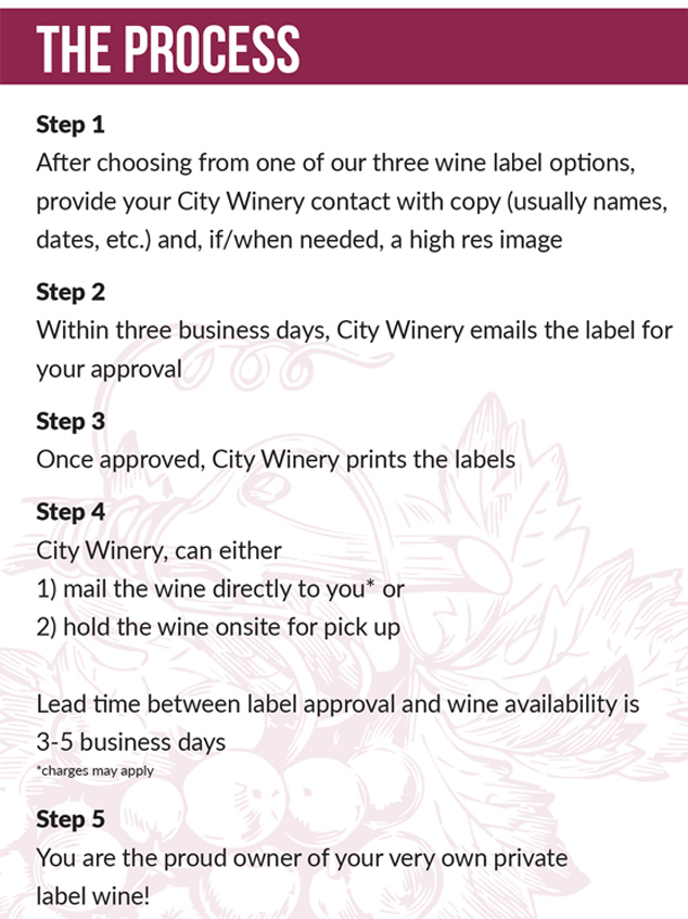 city winery custom wine labels