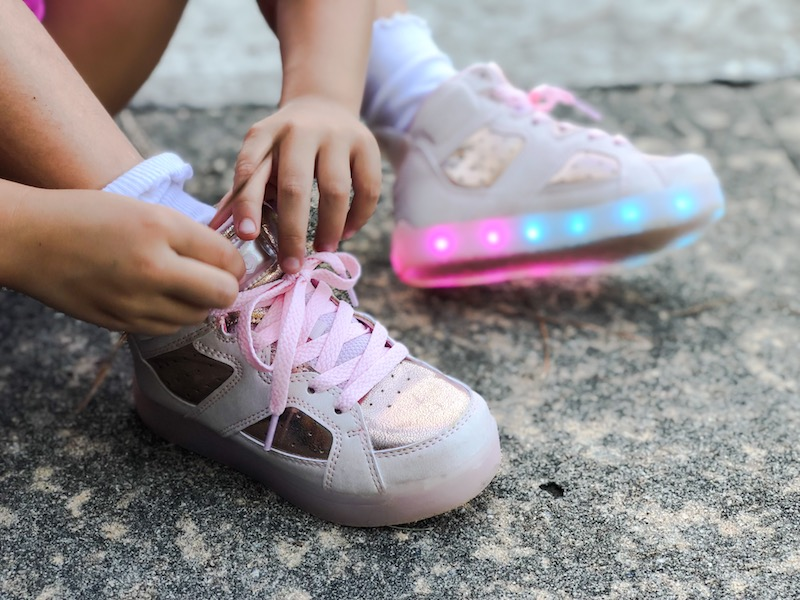 shoes with a charger and light up