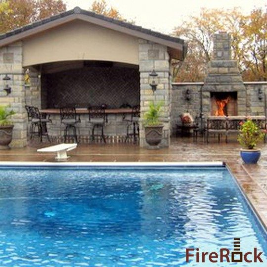 Outdoor Kitchens Outdoor Fireplaces and Pizza Ovens  Danna Pools Inc