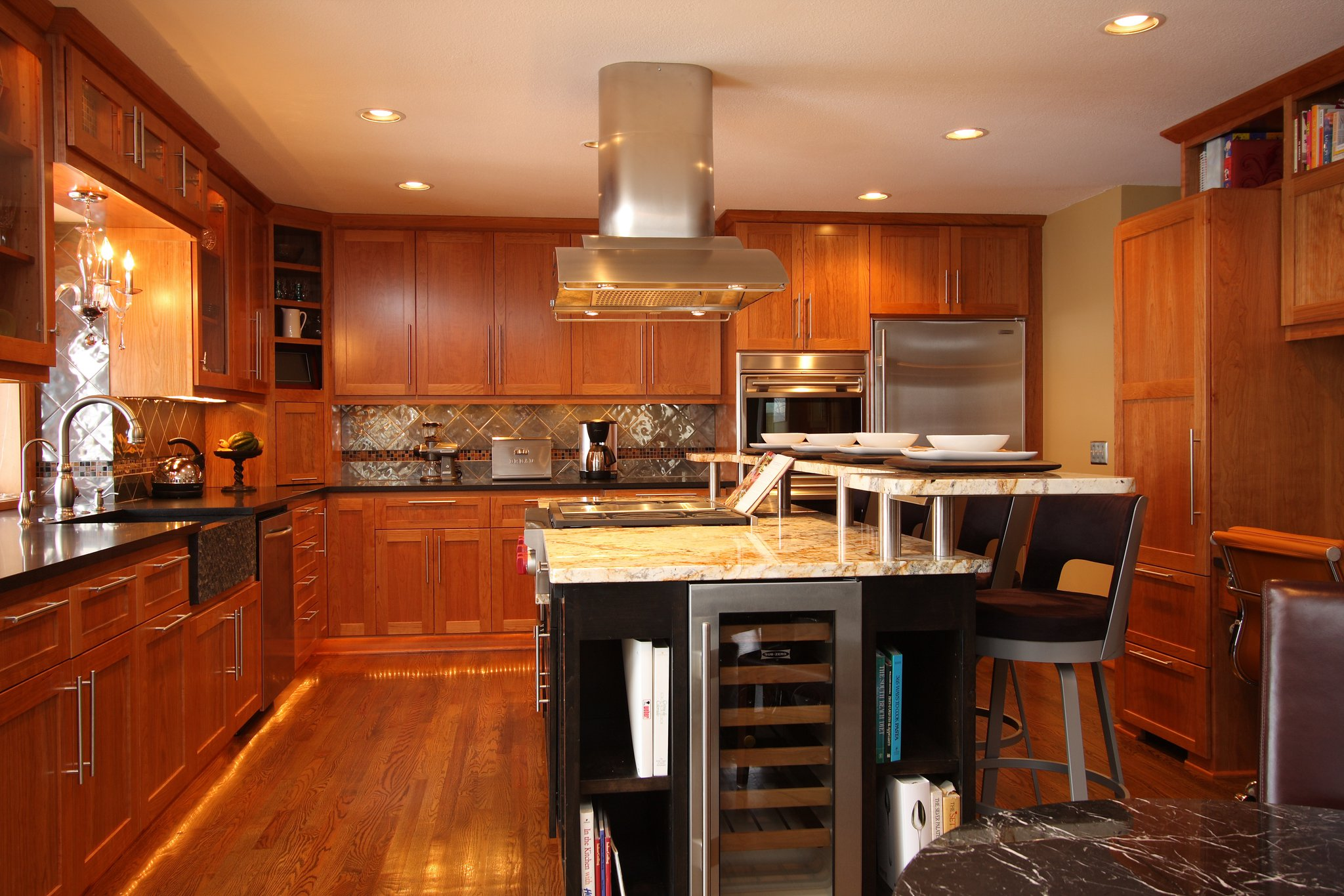 custom kitchen island white sinks mn cabinets and countertops