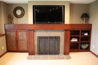 Fireplace, Custom Cabinets, and Mantle | Kitchen Cabinets MN