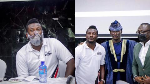 Asamoah Gyan launches maiden book; says it will be a source of encouragement to the youth