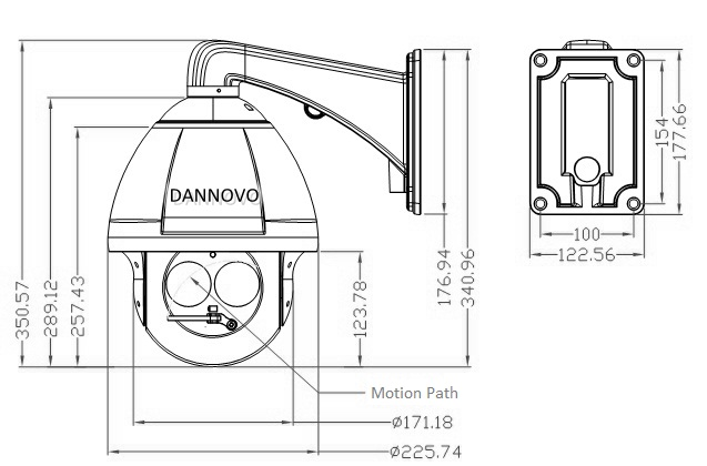 DANNOVO Variable Laser IR 180M PTZ High Speed Dome Outdoor