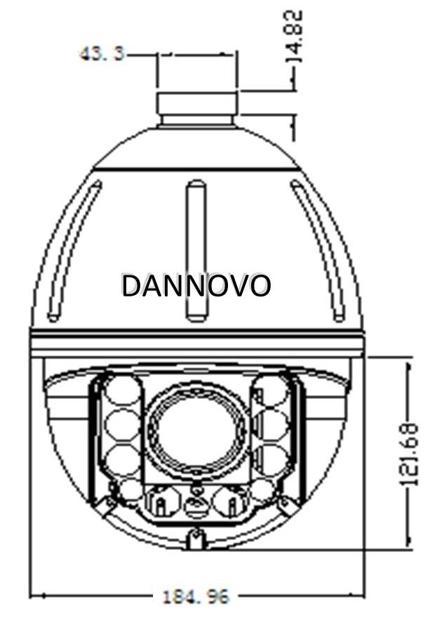 DANNOVO Outdoor Auto Tracking IR PTZ High Speed Dome IP