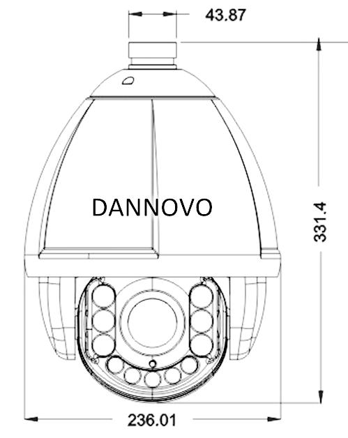 DANNOVO Outdoor 150M IR PTZ High Speed Dome Camera,18x,23x