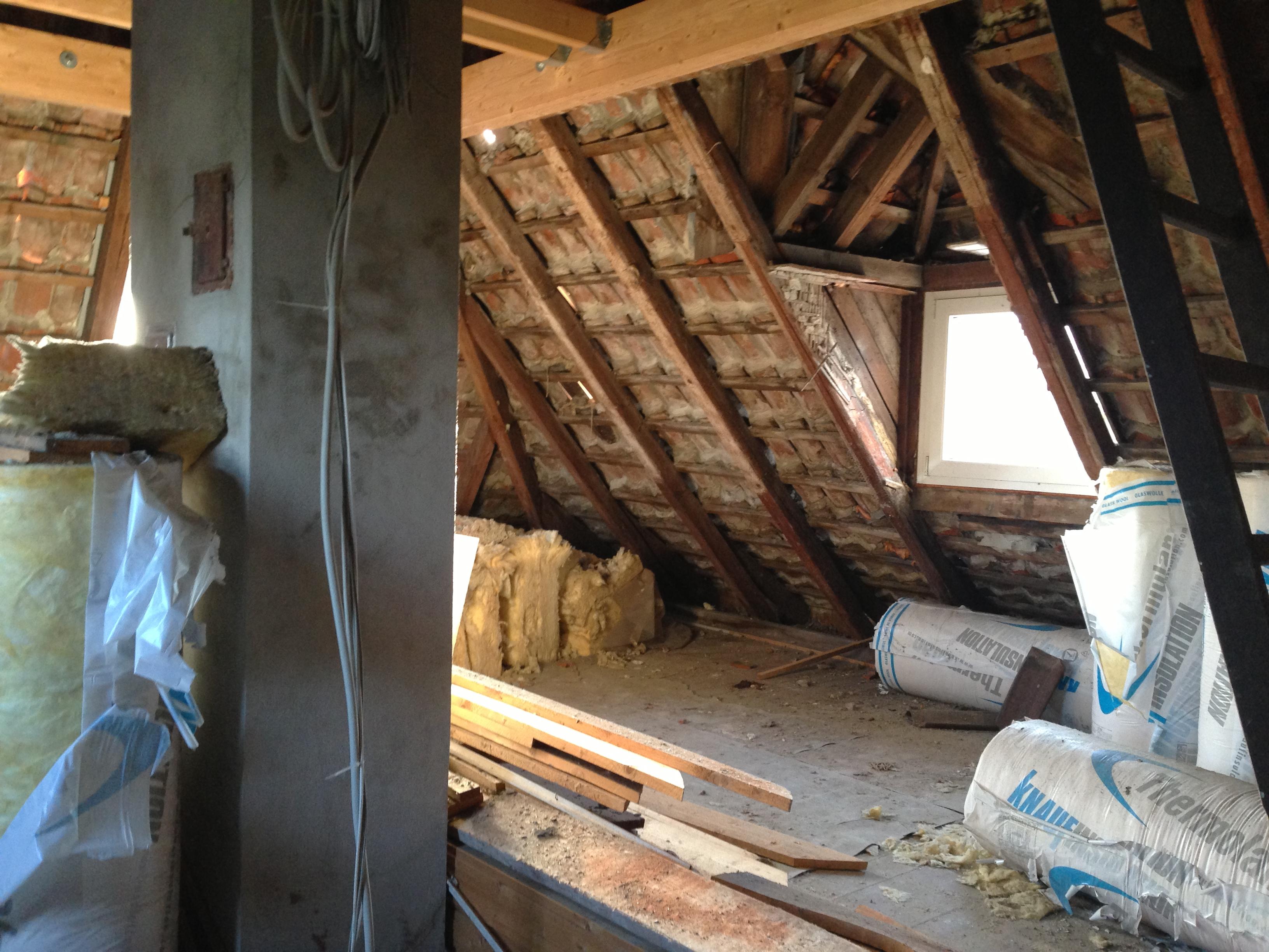 dachbodenausbau vorher nachher dann wollen wir mal. Black Bedroom Furniture Sets. Home Design Ideas