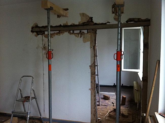 projekt wanddurchbruch und sturzeinbau dann wollen wir mal. Black Bedroom Furniture Sets. Home Design Ideas