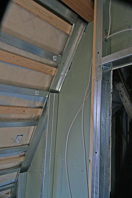 Trennwand Dachschräge