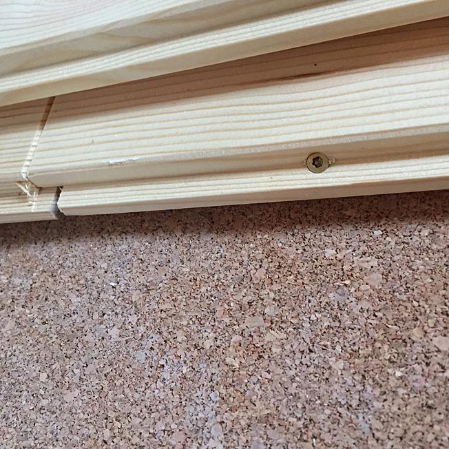 Holzdielen verschrauben Feder