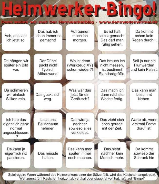 Heimwerker-Bingo