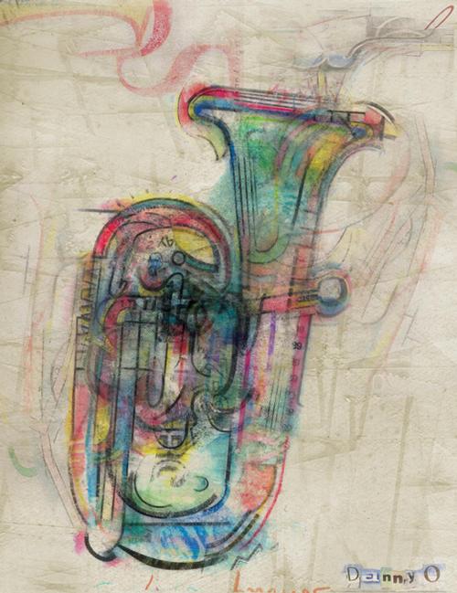Danny O tuba painting