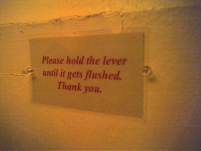 Lever flush