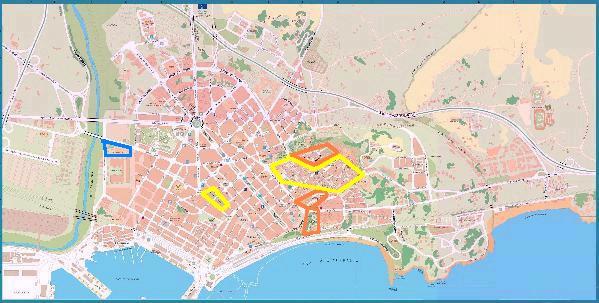 Mappe relative a Tarragona