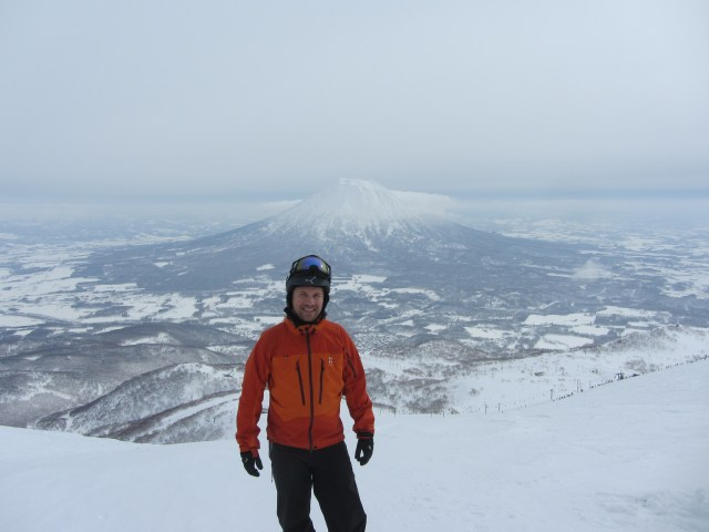 View of volcano, Mt Yotei from summit of Mt Annupuri