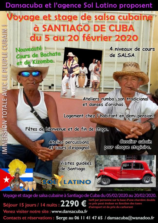 Stage Dansacuba 5 au 20 fév 2020