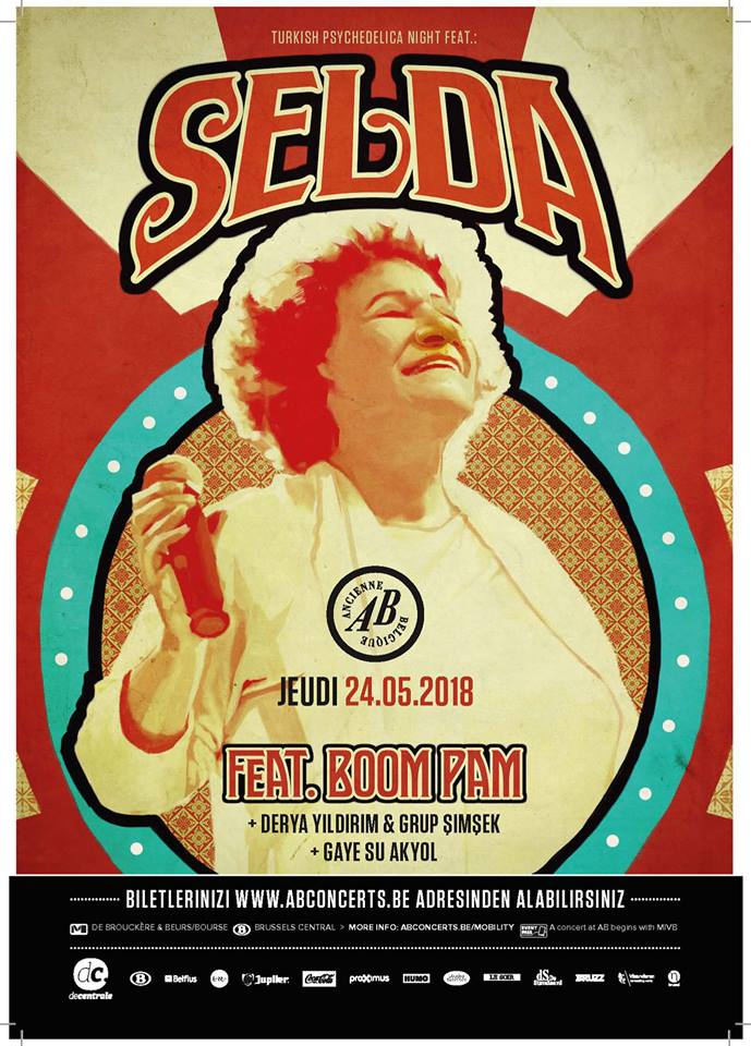 Turkish Psychedelica Night feat. Selda Bağcan @ AB (Ancienne Belgique): Ook al begreep je geen woord Turks, Selda greep je bij de keel