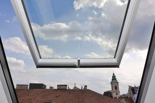 Open Roof-top Window
