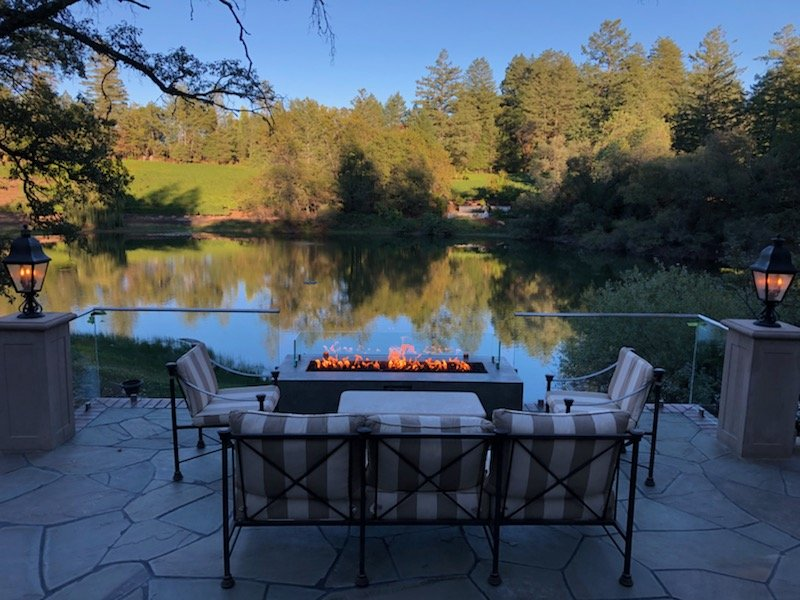 Glass Fire Pit Installation