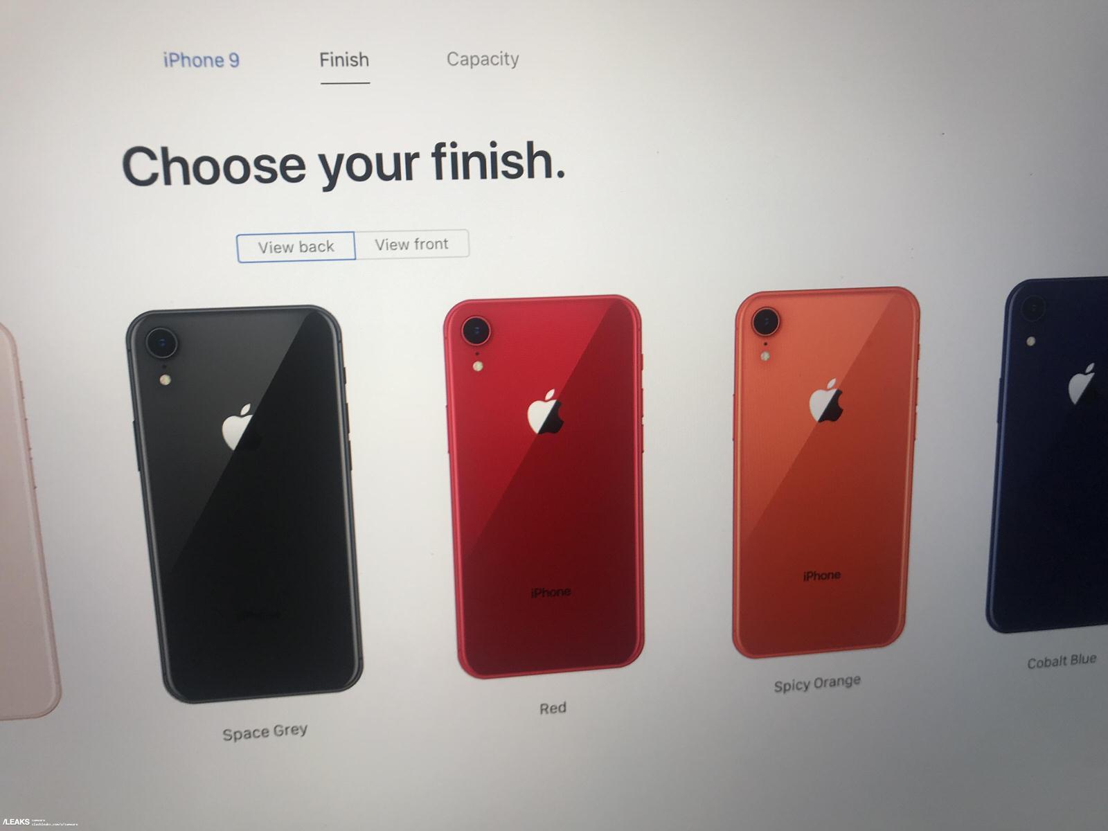 「iPhone 9」の新色にスパイシーオレンジ,コバルトブルー追加?公式サイトの畫像流出か | 男子ハック
