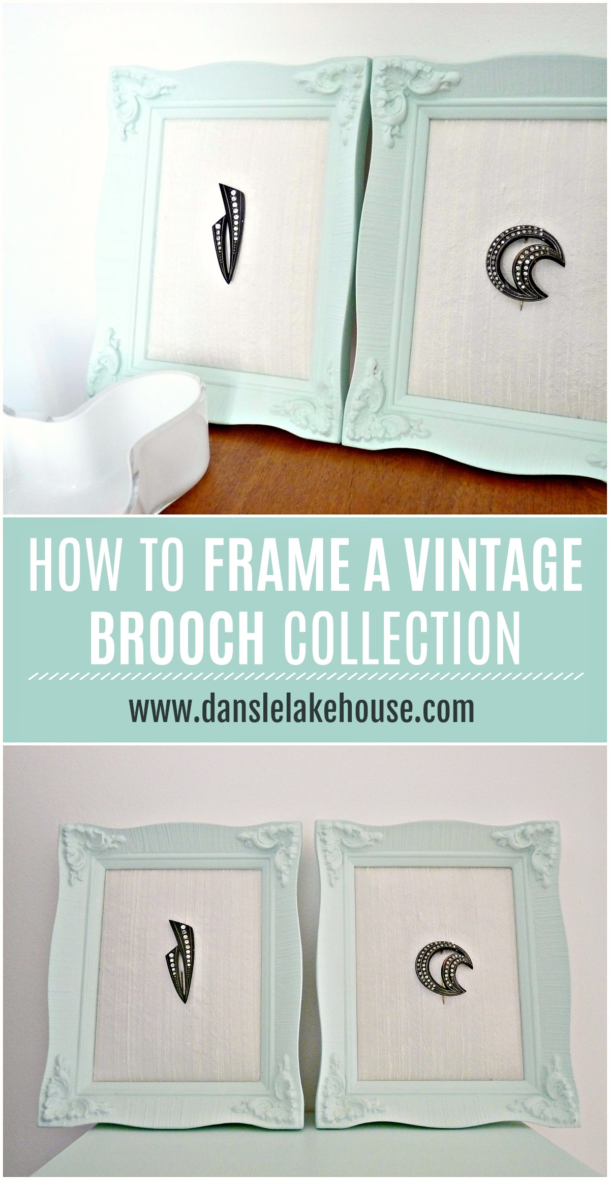 How to Frame a Vintage Brooch Collection