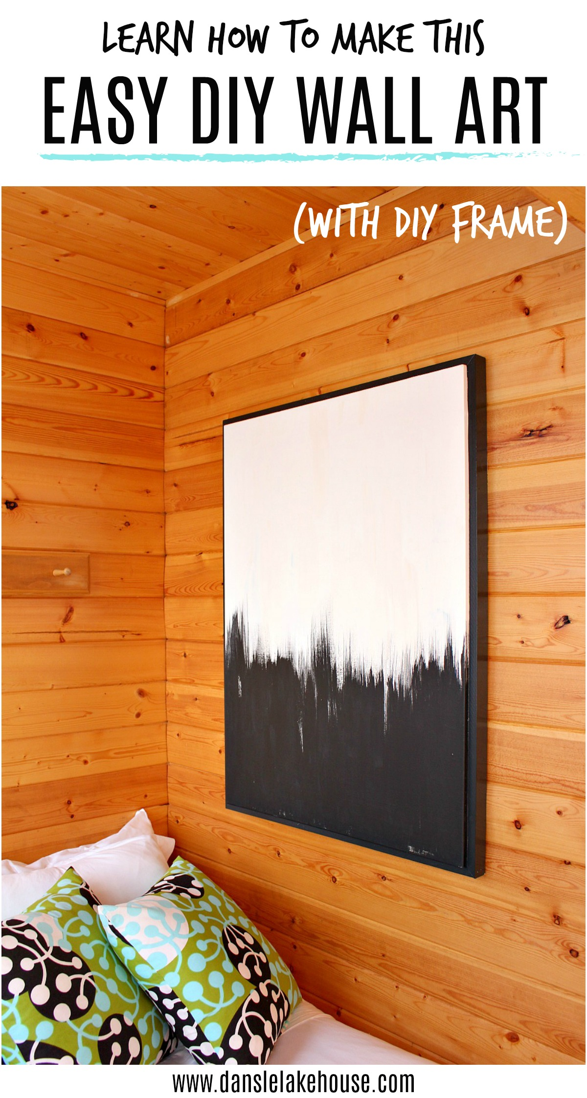 learn how to make this EASY DIY WALL ART