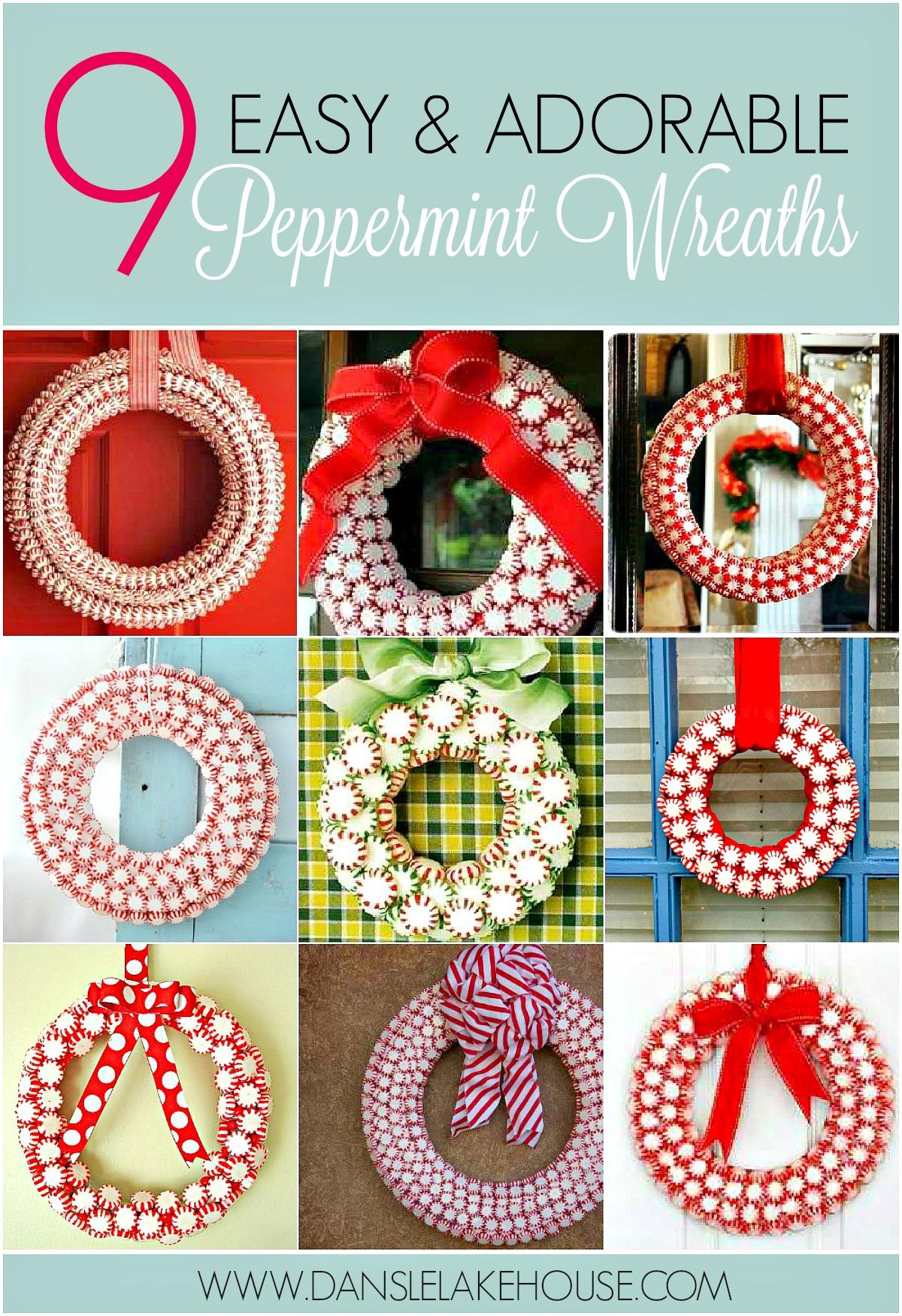 9 Peppermint Wreath Ideas
