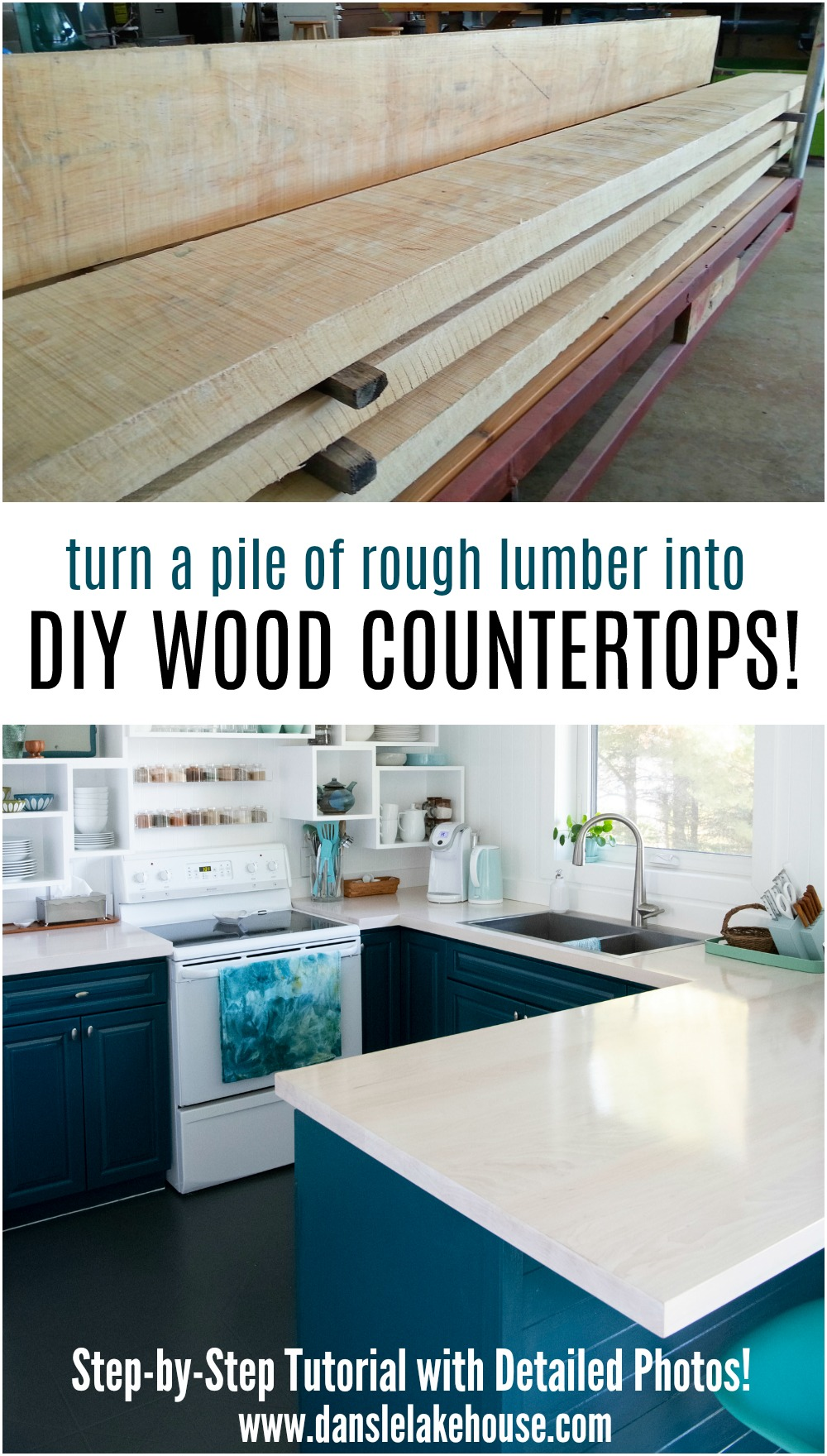 Solid Maple DIY Wood Countertops - Learn How to Build Wood Counters