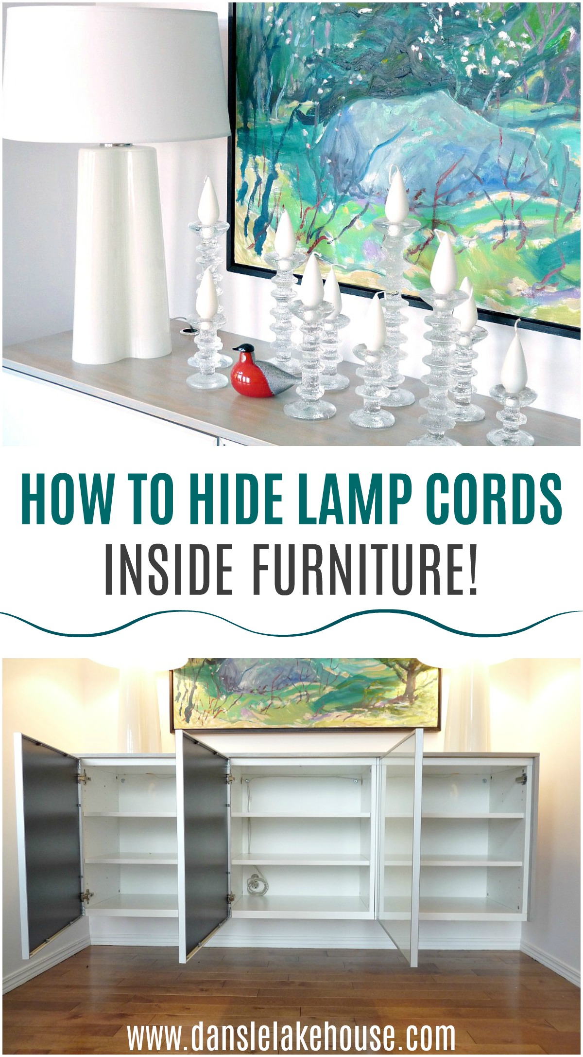 How to Hide Lamp Cords Inside Furniture