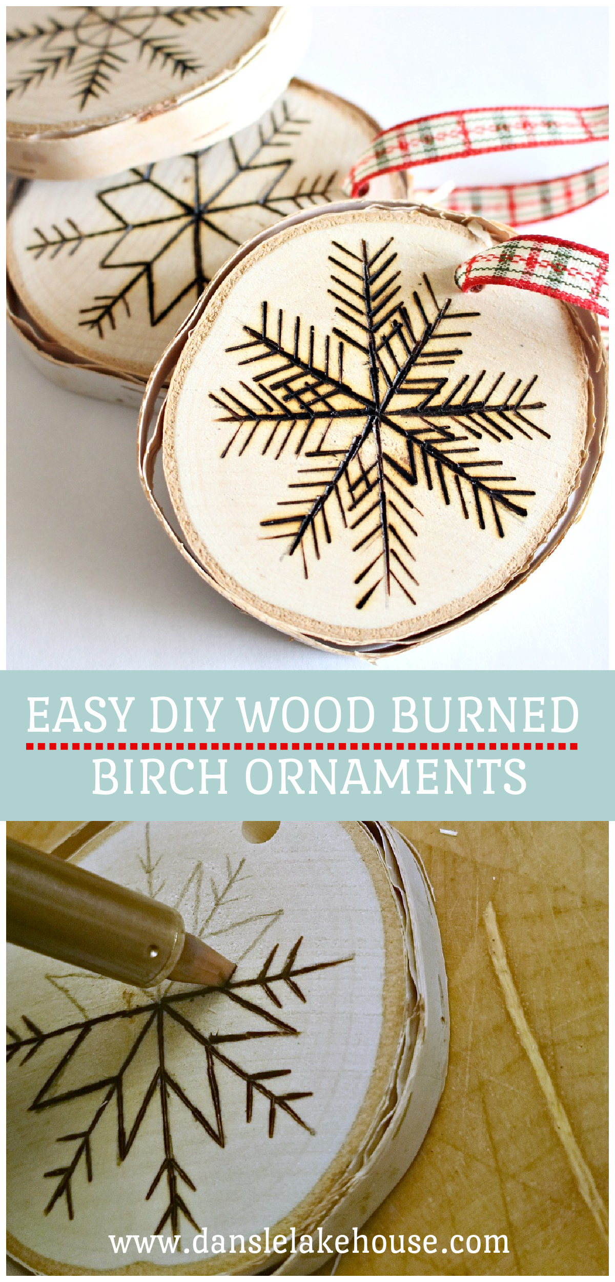 Easy DIY Wood Burned Ornaments