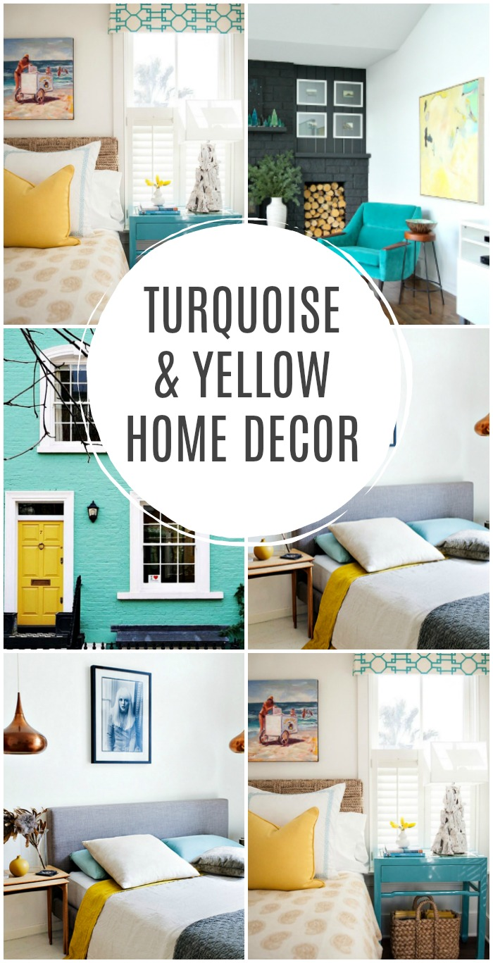 And Here Are A Few Great Turquoise And Yellow Home Decor Finds To Help You  Bring Home This Happy Look: