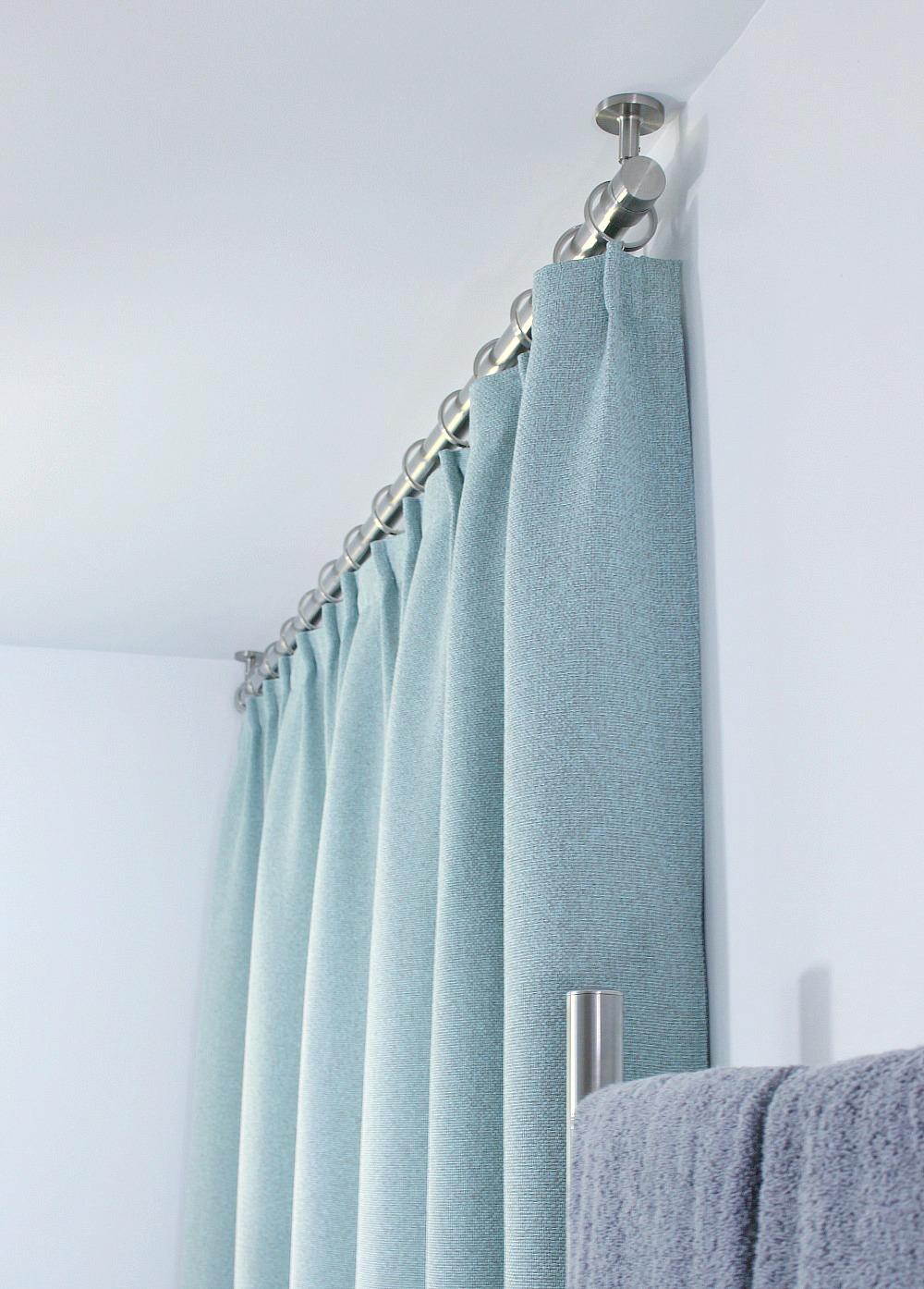 diy ceiling curtain rod