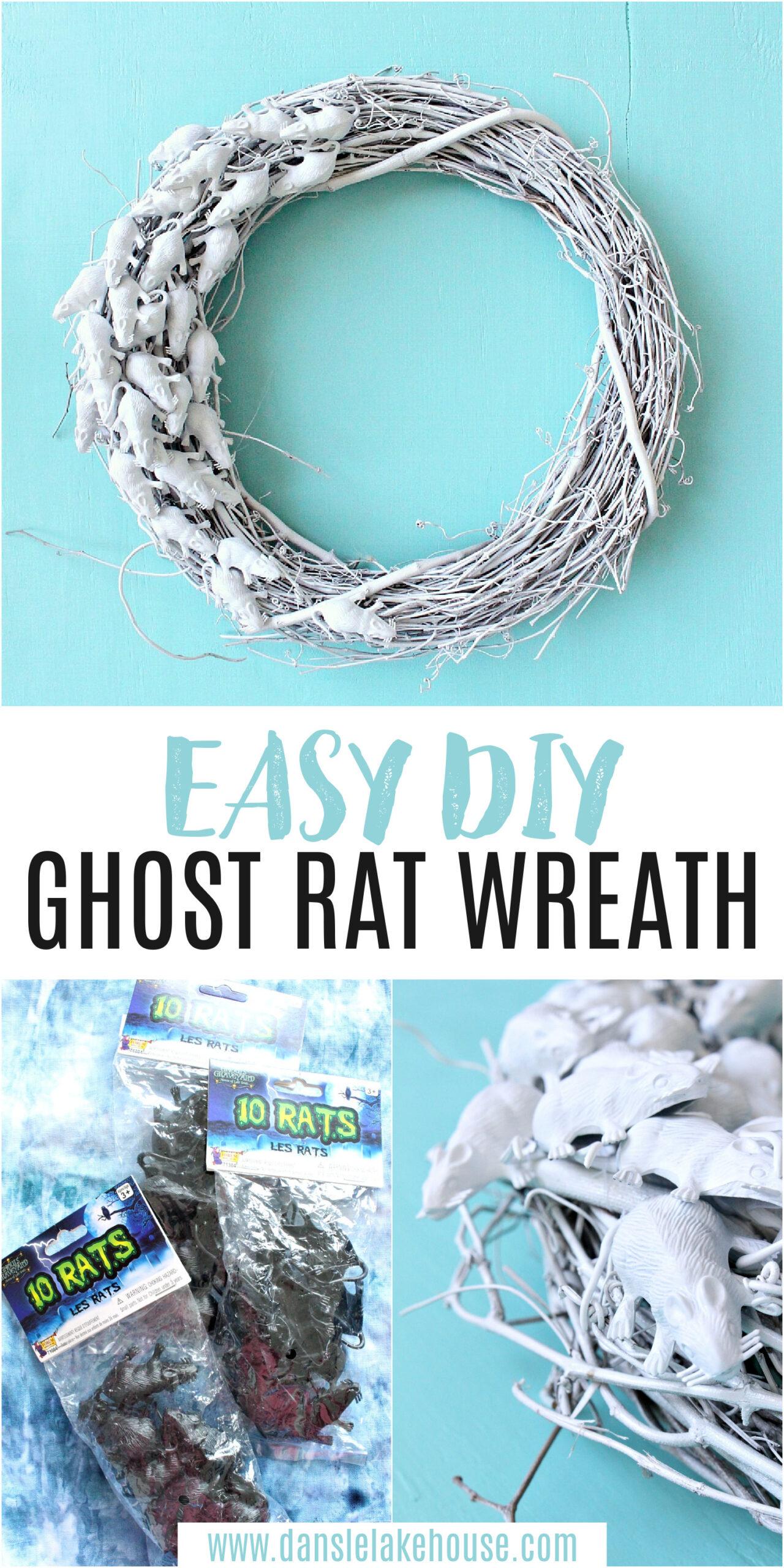 DIY Rat Wreath for Halloween