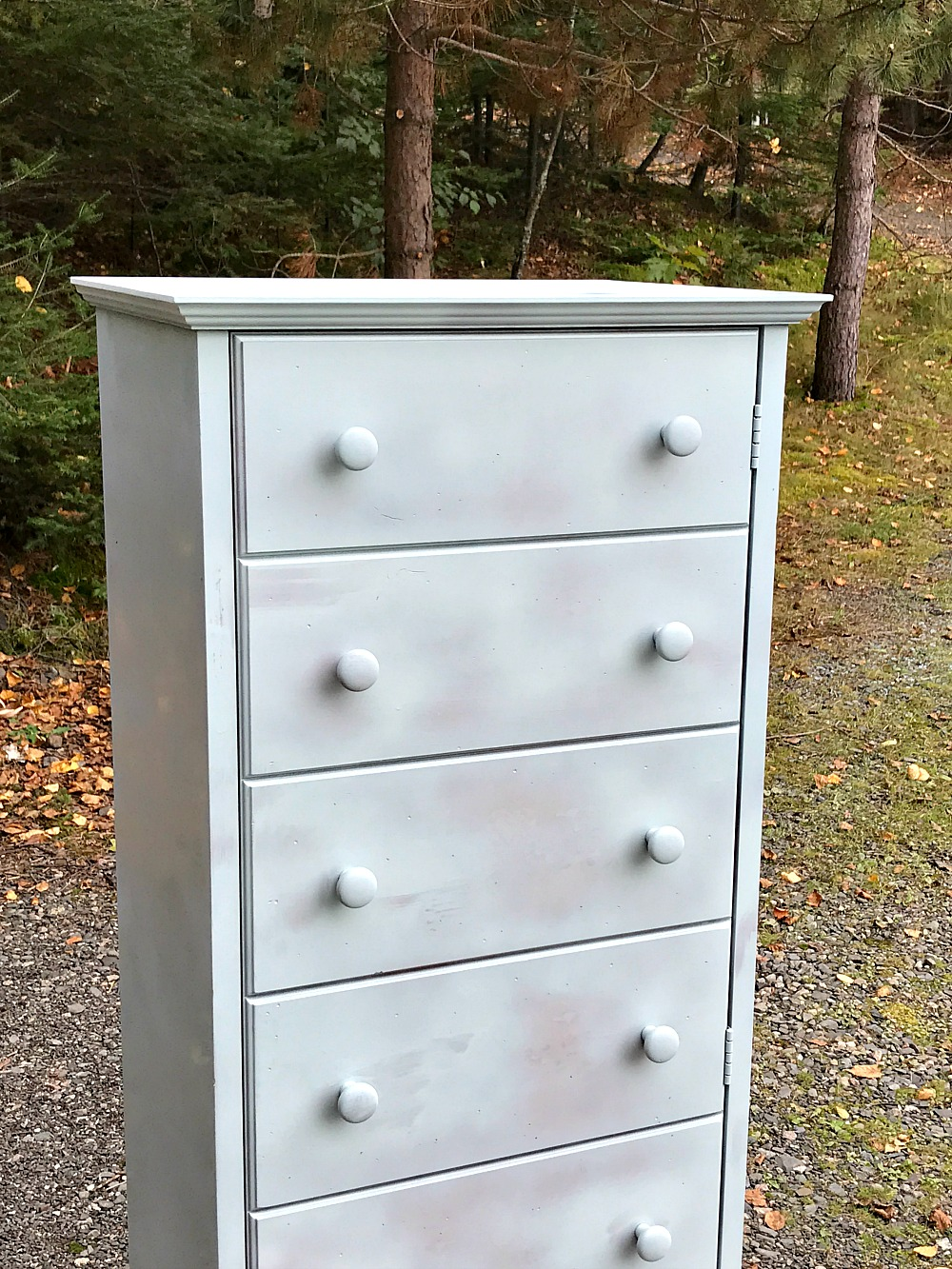 chalk painted cabinet makeover