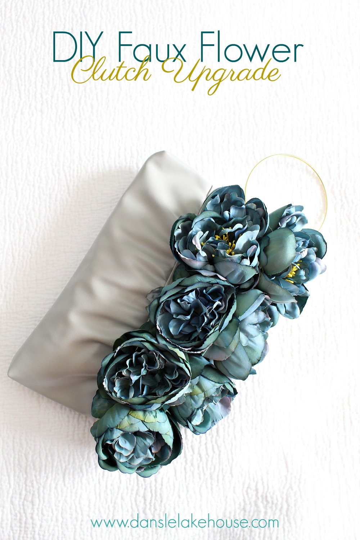 DIY Faux Flower Clutch Purse