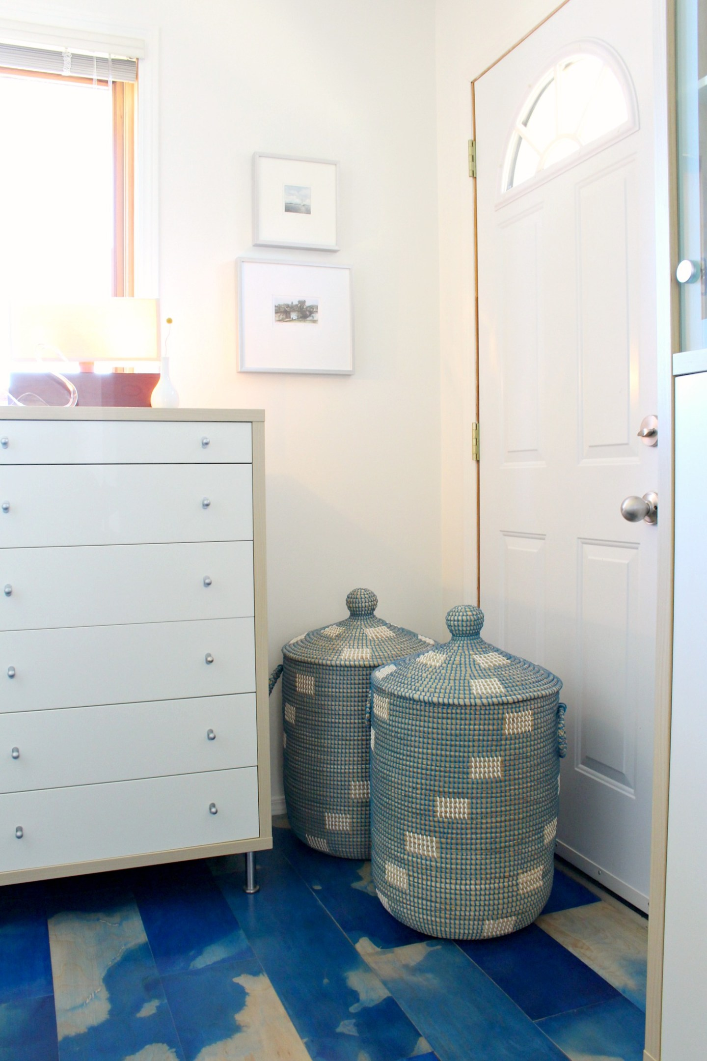Evie Bluegrass Storage Hamper from Pier 1