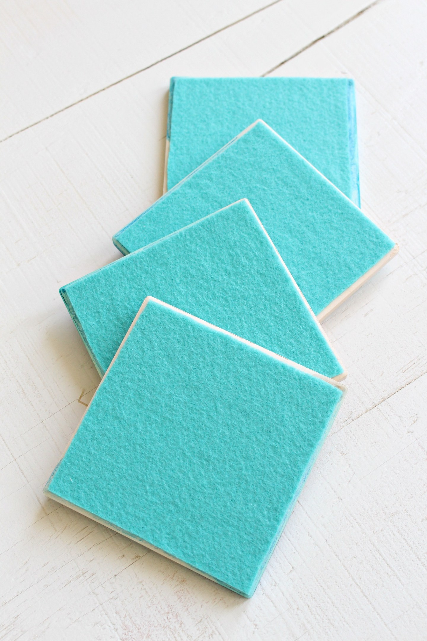 Turn Tiles into Coaster by Adding Felt on the Back