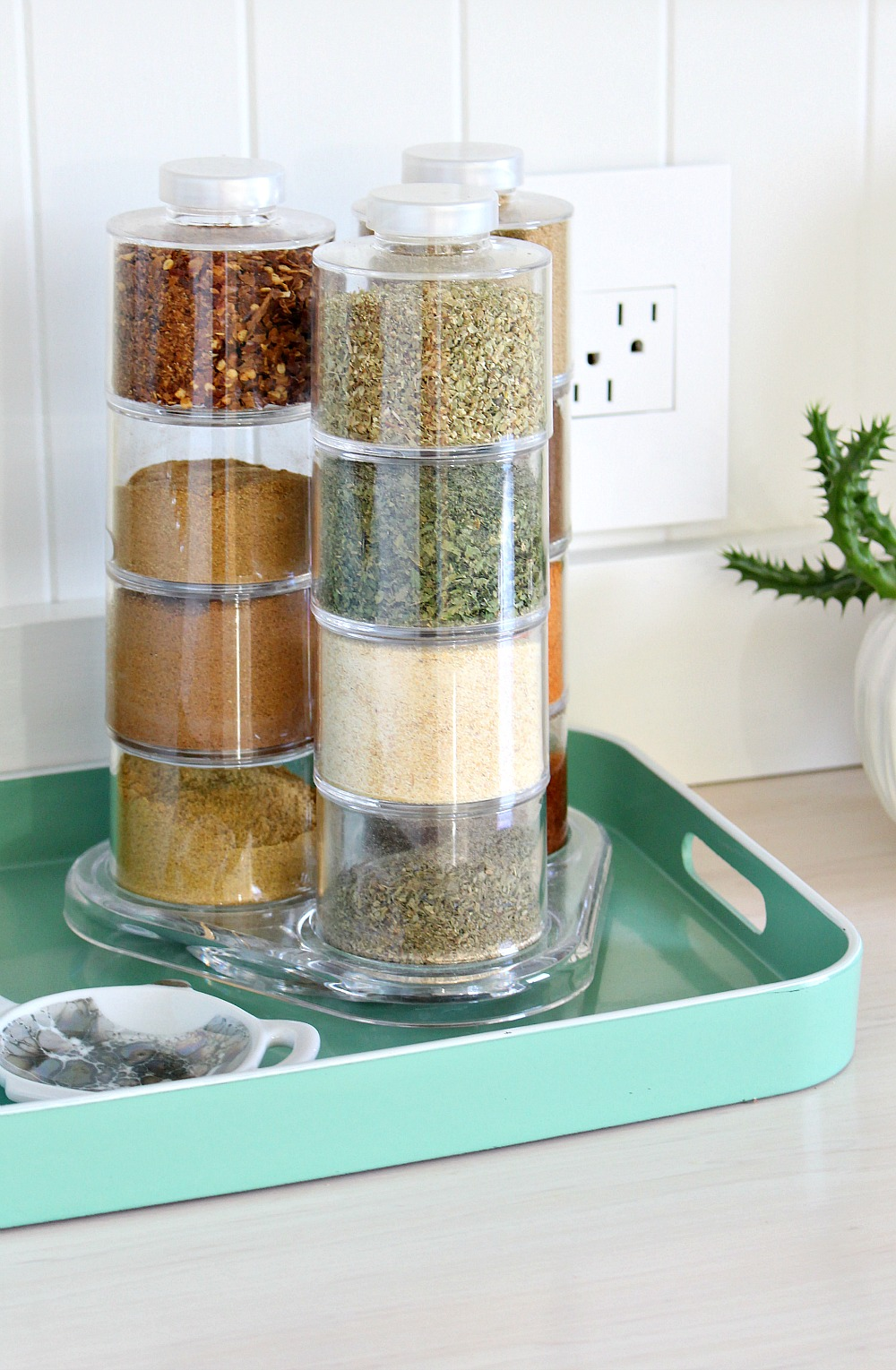 Modern Spice Tower Rack Storage