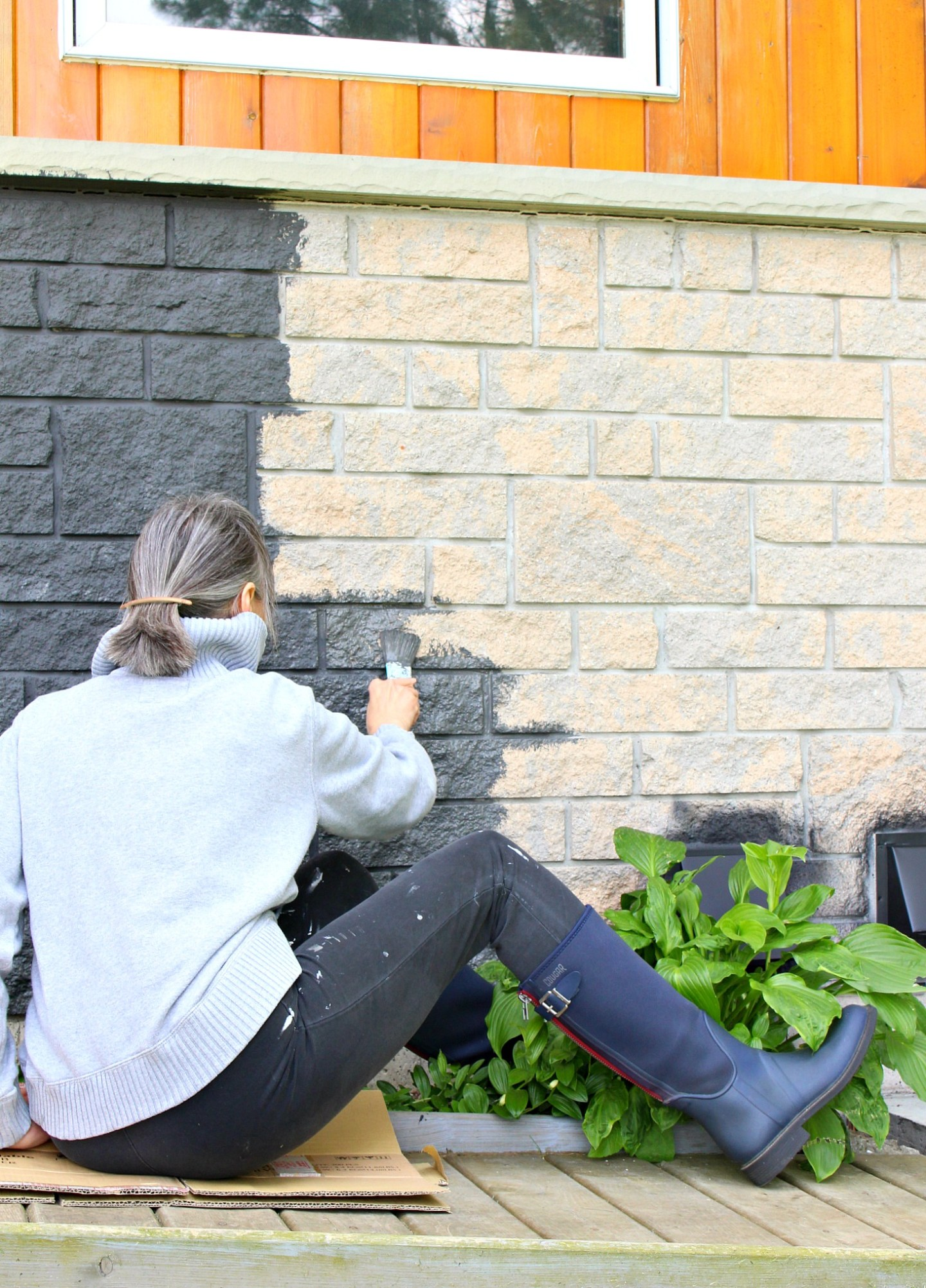 How to Paint Manufactured Stone Exterior
