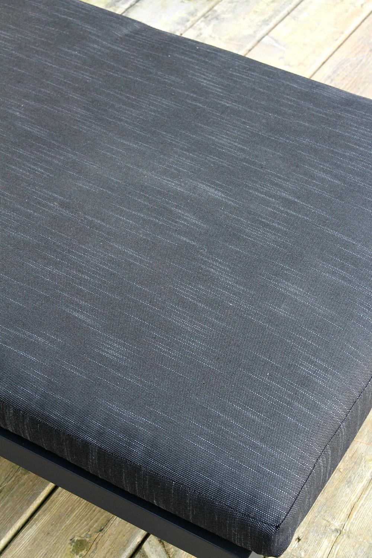 Dark Grey Patio Lounger Cushion