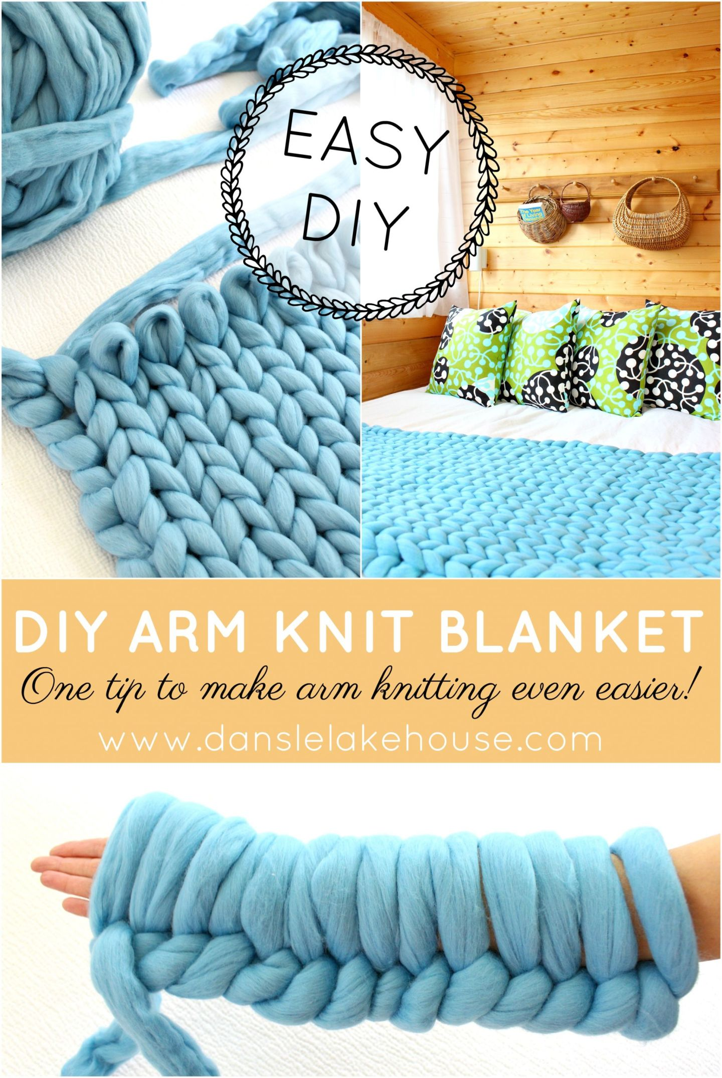 DIY arm knitting project