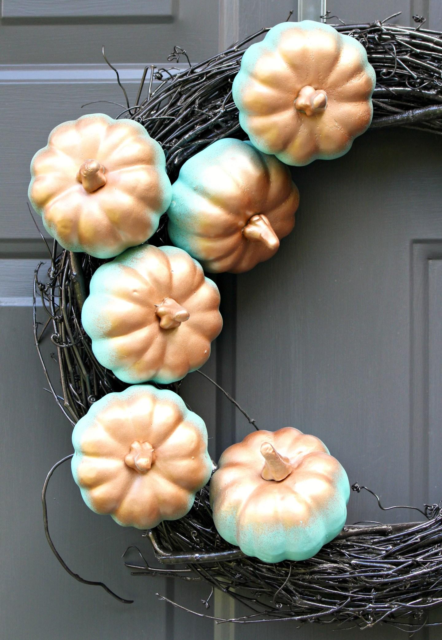 DIY Gradient Spray Paint Pumpkins