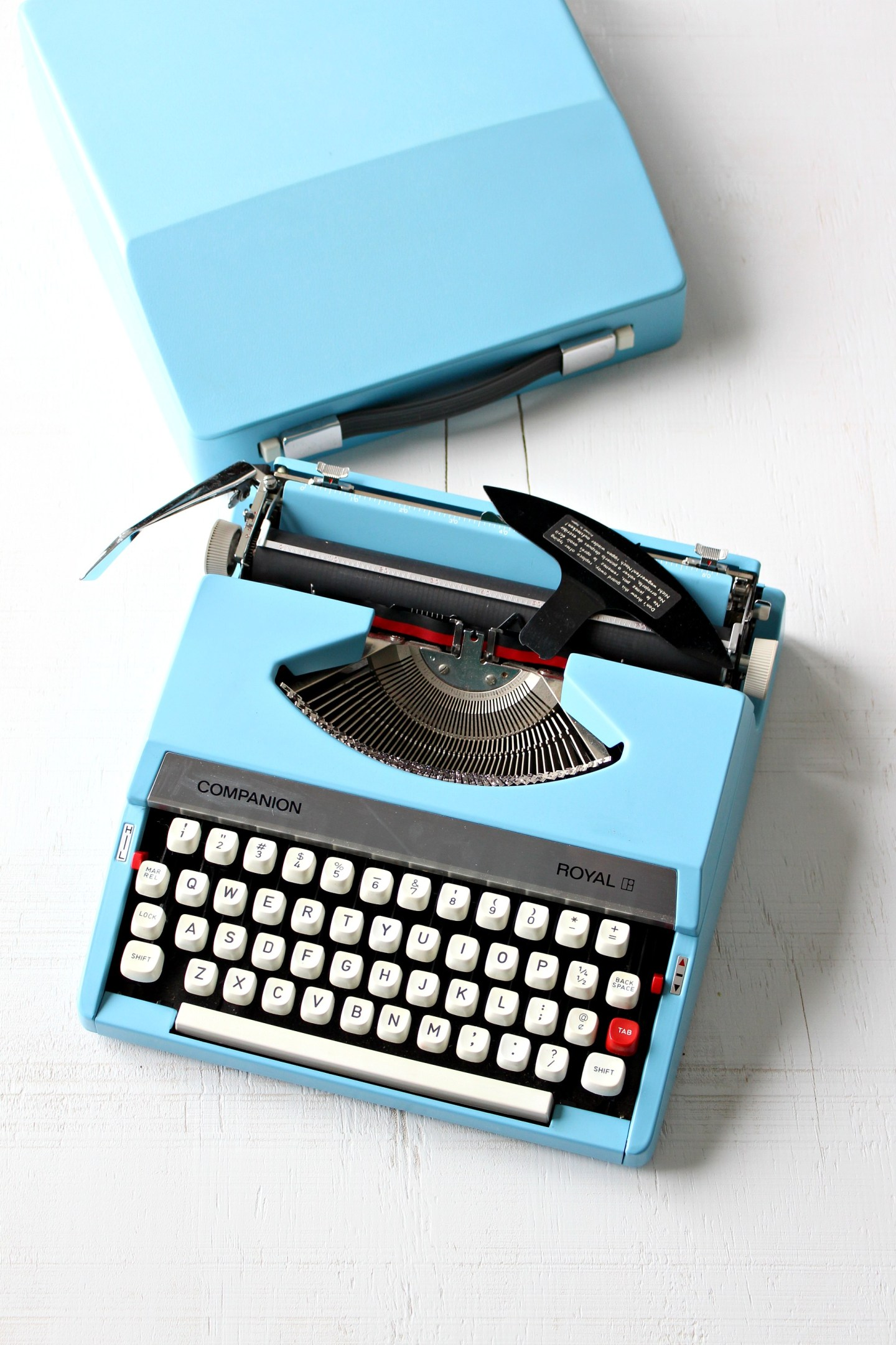 Vintage Blue Typewriter