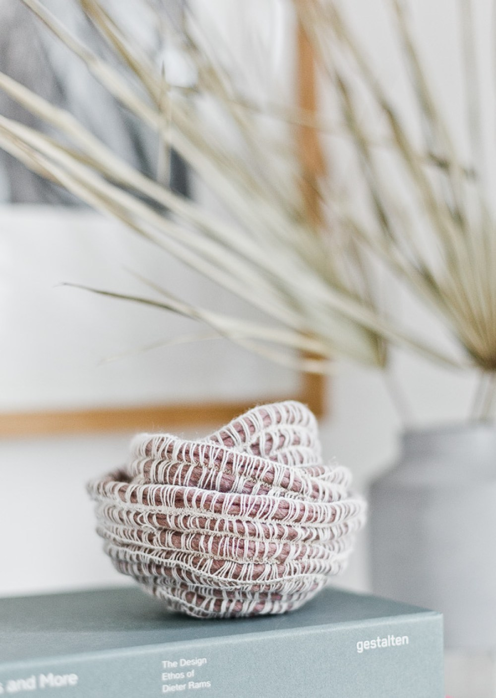 DIY Woven Rope Bowls   15 Stylish DIY Projects for Organizing Your Home #organizing #diy #diyhome #clutterbustingtips