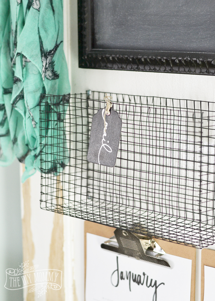 DIY Wire MEsh Basket   15 Stylish DIY Projects for Organizing Your Home #organizing #diy #diyhome #clutterbustingtips