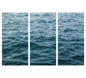 WAVES TRIPTYCH COASTAL ART