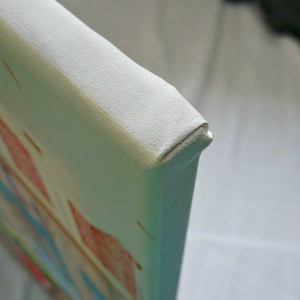 HOW TO STRETCH A PAINTED CANVAS
