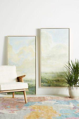 GREEN LANDSCAPE WALL ART
