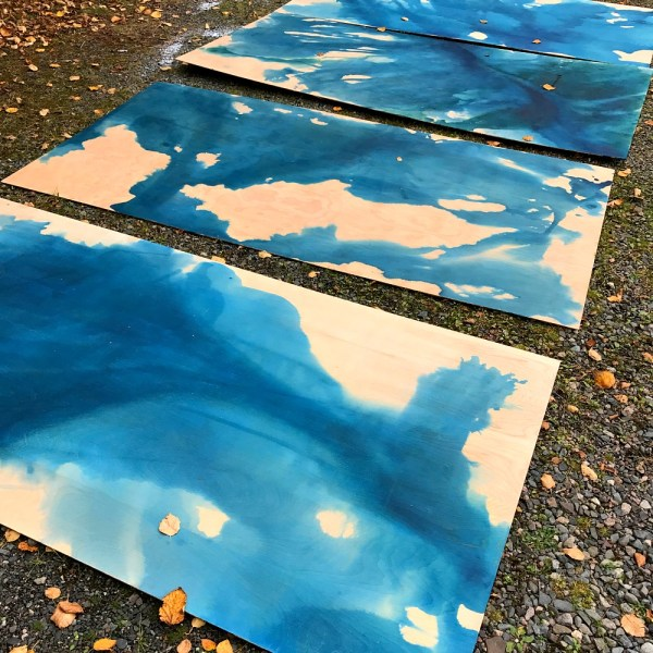 DIY WATERCOLOR STAINED WOOD