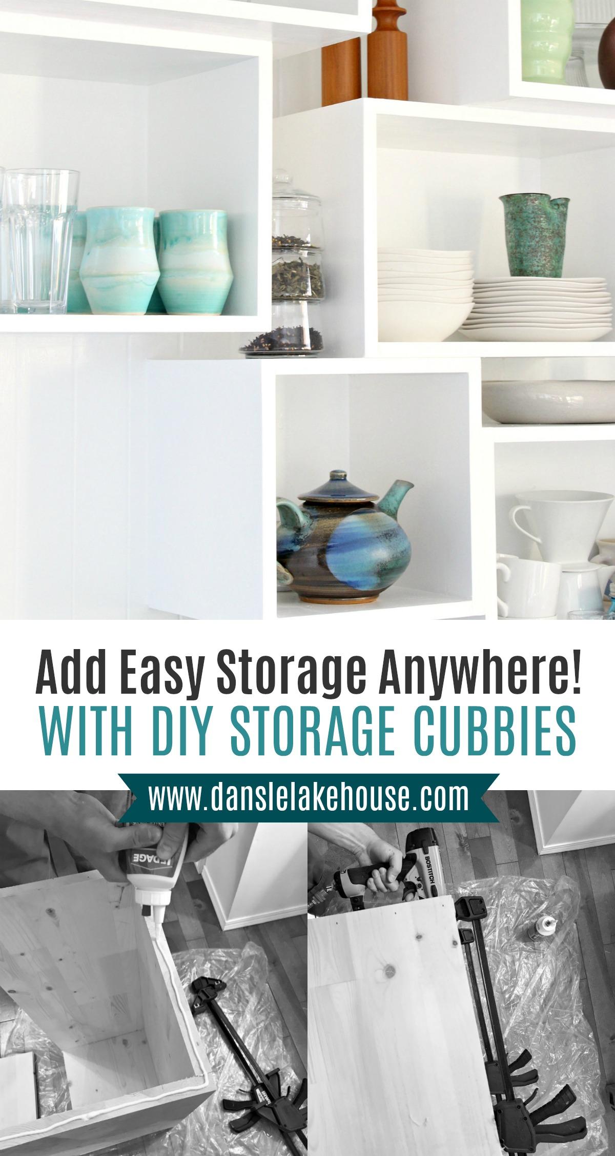DIY storage cubbies